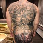 Back tattoo criminal