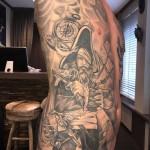 Belly tattoo men