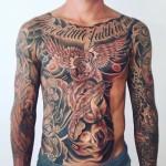 Full body tattoo men
