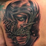 Gezicht tattoo