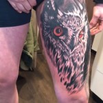 LEg tattoo bird