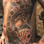 Poker game tattoo