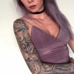 Sleeve tattoo girl