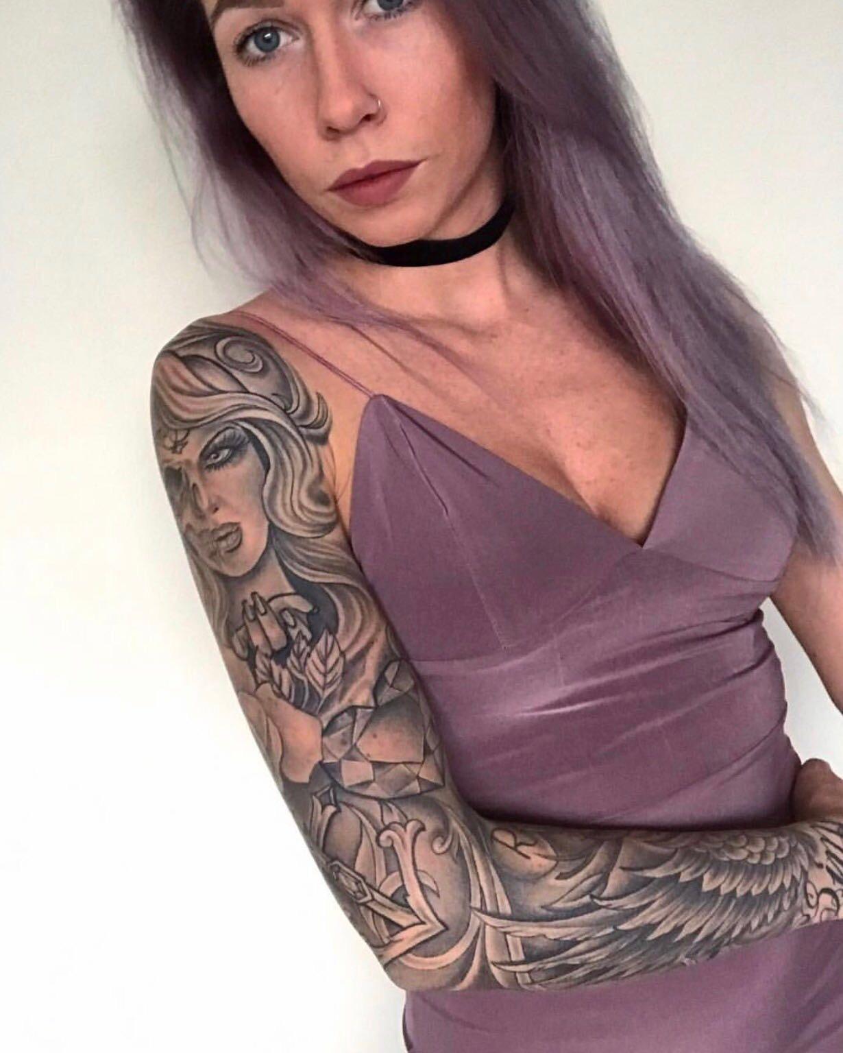 Sleeve Tattoo Girl Jims Jims