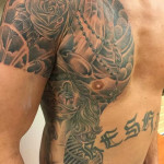 Tattoo creatief buik Frank