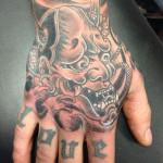 Tattoo creatief hand Frank