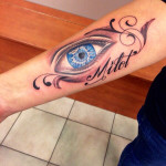Tattoo oog realistisch Carmen