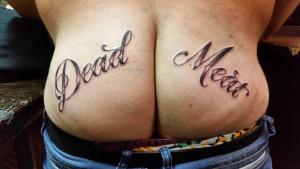Tattoo op kont Mischa
