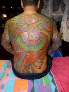 Tattoo rug kleur Jimmy