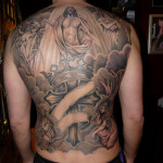 Tattoo zwart wit rug Jimmy
