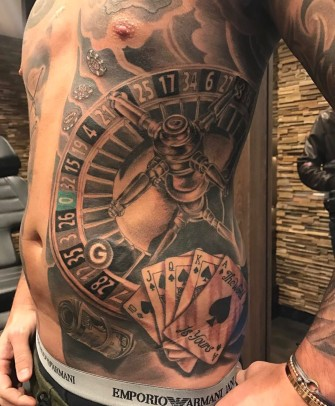 Poker game tattoo